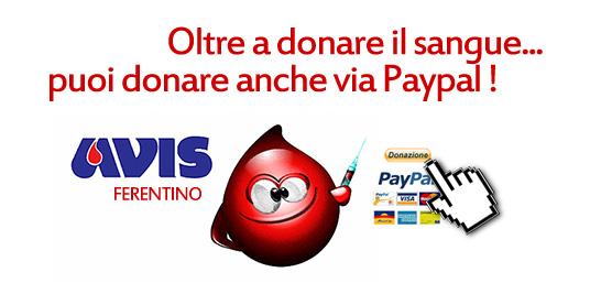 Cambiare per Avis Ferentino - Donazioni