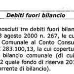 2012 debito fuori bilancio farmacie